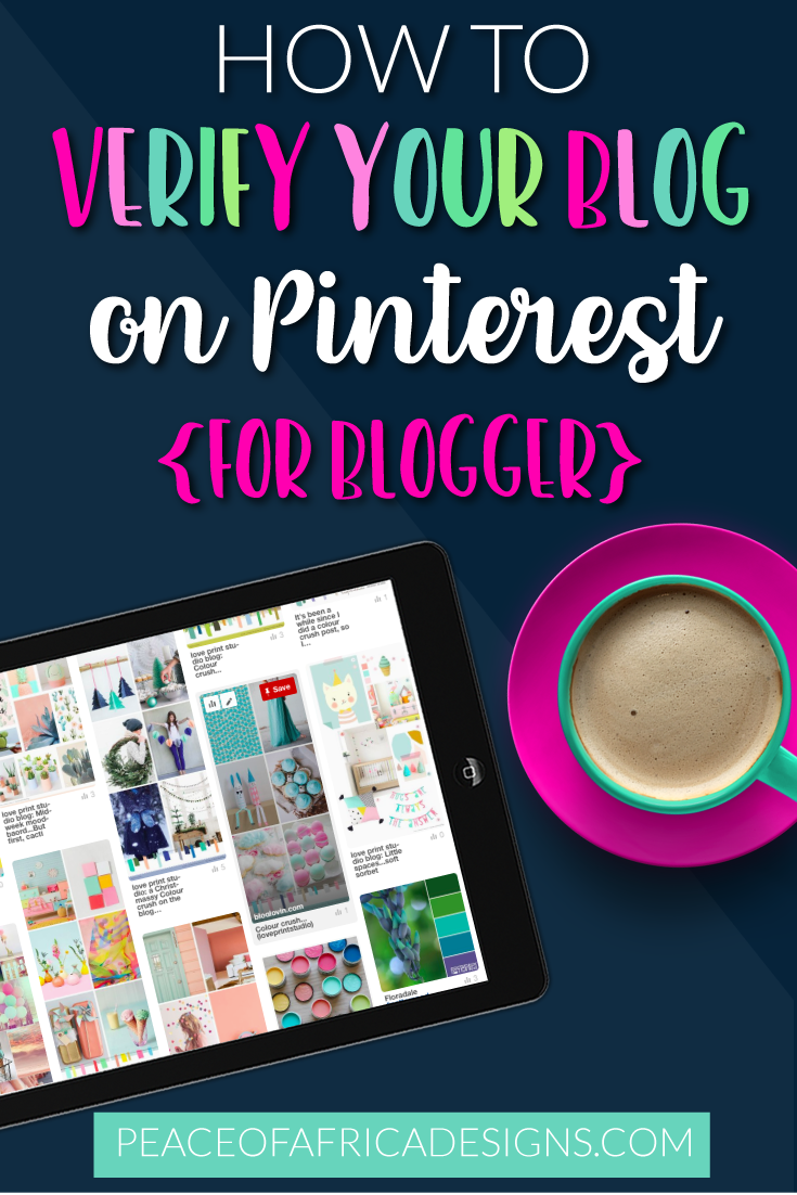 How to: Verify your Blogger blog on Pinterest